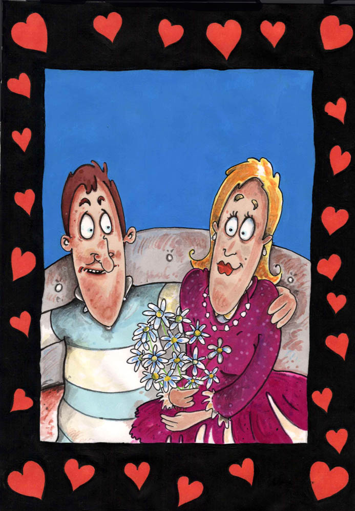 valentines day couple card